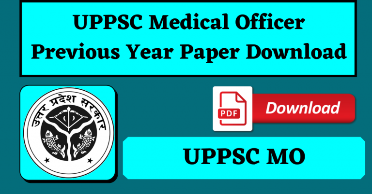 [Download] UPPSC Medical Officer Previous Year Paper PDF