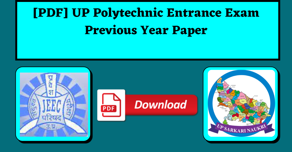 [PDF] UP Polytechnic Entrance Exam Previous Year Paper