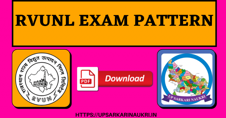 RVUNL Exam Pattern Previous Question Papers PDF Download